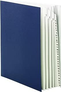Smead Desk File/Sorter, Daily (1-31), 31 Dividers, Letter Size, Blue (89294)