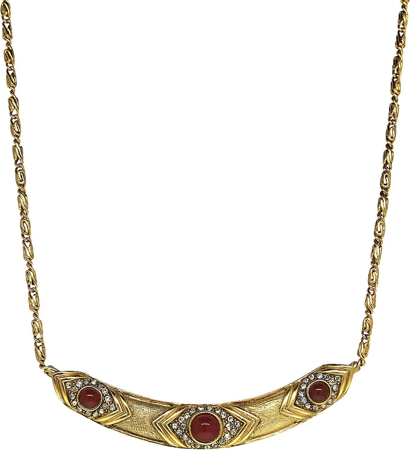 1928 Jewelry Gold-Tone Evil Collar Topics on TV Eye Necklace Max 84% OFF Crystal