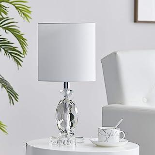 LEEZM Bedside Table Lamp for Living Room, Bedroom, Children Room Crystal Bedside Lamp Night Light Modern Bed Nightstand Li...