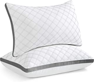 Oubonun Standard Size Pillows for Sleeping Set of 2, Hypoallergenic Down Alternative Pillows, Supportive Bed Pillow for Si...
