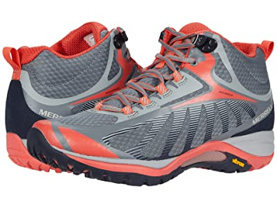 Merrell Siren Edge 3 Mid Waterproof (Monument/Coral) Women