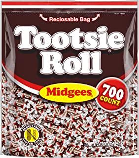 Tootsie RollOriginalChocolateyTwistMidgees, Resealable Stand-upBag, 700-Count, Peanut Free, Gluten Free