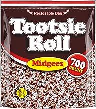 Tootsie RollOriginalChocolateyTwistMidgees, Resealable Stand-upBag, 700-CountHalloween Candy Trick or Treat Pumpkin Filler, Peanut Free, Gluten Free