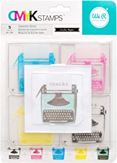 We R Memory Keepers Transparent CMYK Stamp Kit - Typewriter (5 Piece)