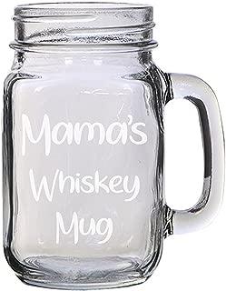 Family Member's Whiskey Mug Text Engraved Etched for Wedding, Engagement Anniversary Bridal Party for Newlyweds 16 oz Mason Jar Glass Mug for Whiskey Enthusiasts Gift (Mama)