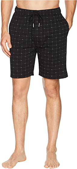 Lacoste Signature Print Knit Shorts