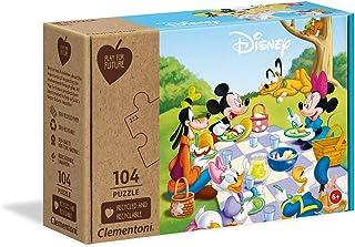 Clementoni Play for Future-Disney Mickey Classic-104 pièces-Puzzle Enfant-matériaux 100% recyclés-fabriqué en Italie, 6 An...