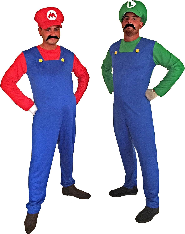 Los mejores precios y los estilos más frescos. Traje del vestido de la nueva edad Hombres de súper súper súper Mario Bros Luigi fontanegro Hermanos Fantasía  compras en linea