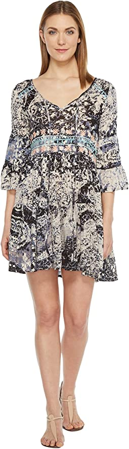 Mahalia Printed V-Neck Dress