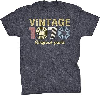 50th Birthday Gift T-Shirt - Retro Birthday - Vintage 1970 Original Parts
