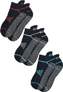 RATIVE Anti Slip Non Skid Barre Yoga Pilates Hospital Socks with grips for Adults Men Women - Multicoloured - X-Large