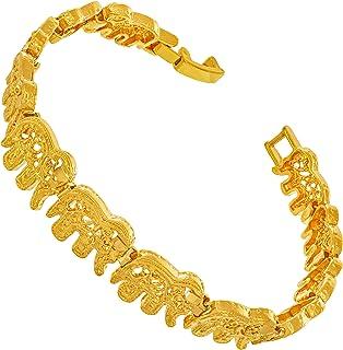 Elephant Link Charm Bracelet for Women and Men 24k Gold...