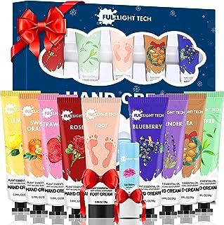 Hand Cream Gift Set 10 Packs w/Foot Cream & Lip Balm Moisturizing Hand Lotion w/Shea Butter for Dry Cracked Hands Skin,Uni...