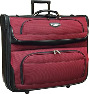 Amsterdam Business Rolling Garment Bag with Protective Foam, Red