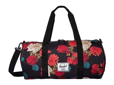 Herschel Supply Co. Sutton Mid-Volume (Vintage Floral Black) Duffel Bags
