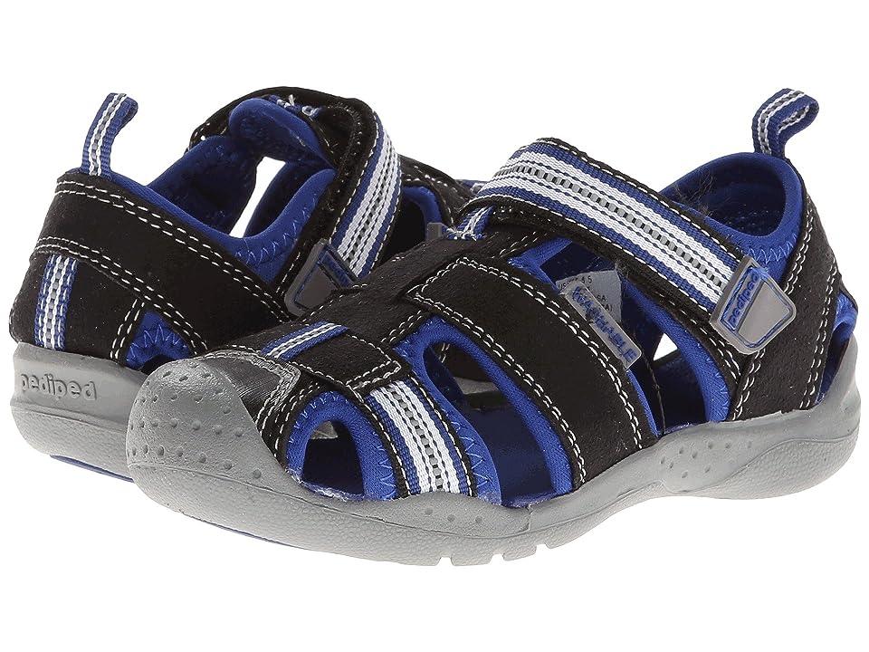 pediped Sahara Flex (Toddler/Little Kid) (Black King Blue) Boys Shoes
