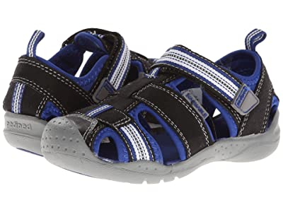 pediped Sahara Flex (Toddler/Little Kid) (Black King Blue) Boys Shoes