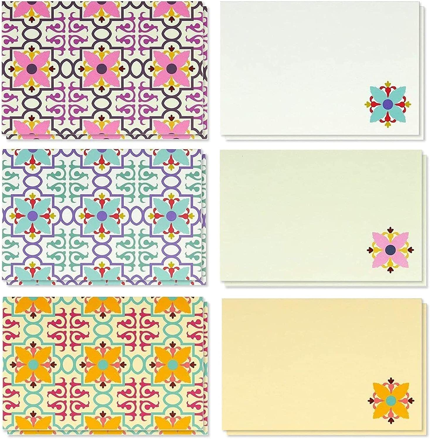 Vintage Floral Blank Greeting Cards with Envelopes, All Occasion