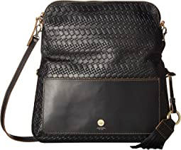 Lodis Accessories Rodeo Woven RFID Aphra Zip Flap Crossbody