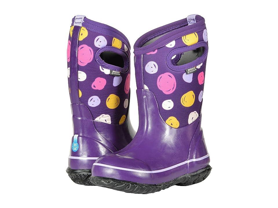 Bogs Kids Classic Sketched Dots (Toddler/Little Kid/Big Kid) (Purple Multi) Girls Shoes