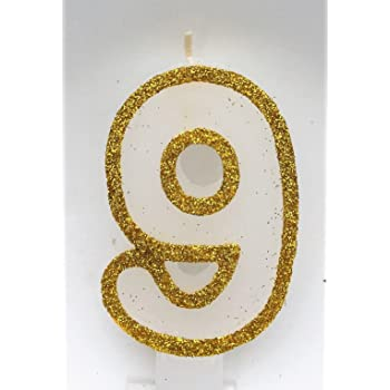 Gold Glitter Jesmon Trading Limited Wasiwax No 1 Birthday Candle