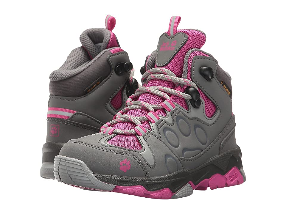Jack Wolfskin Kids Mountain Attack 2 Waterproof Mid (Toddler/Little Kid/Big Kid) (Fuchsia) Kid