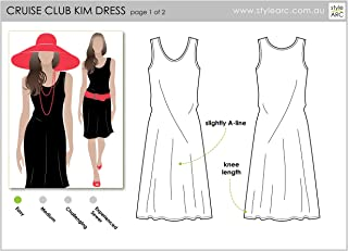 Style Arc Sewing Pattern - Cruise Club Kim Dress - Sizes 18-30 - Click for Other Sizes Available