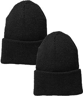 ARMYU Black Military Genuine GI US Department of Defense 100% Wool Watch Cap (2-Pack)