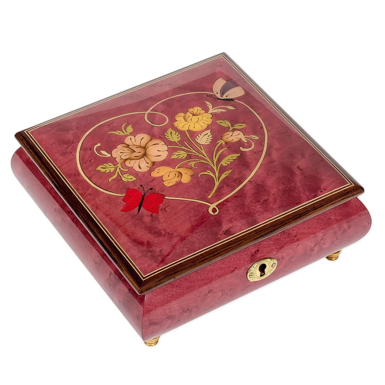 Splendid Music Box Heart Boston Mall Butterfly Italian music jewe inlaid Regular discount box