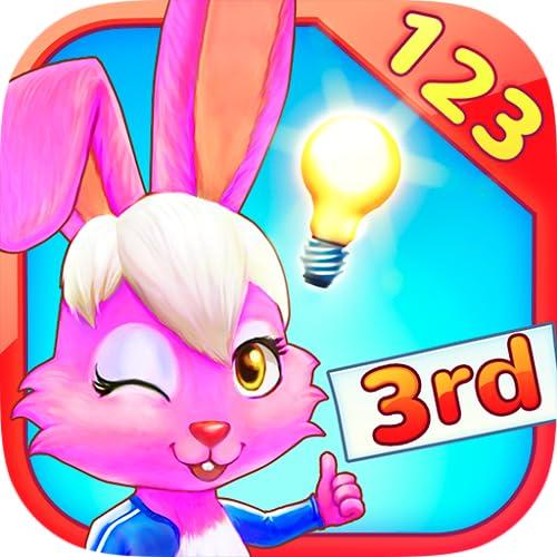 Wonder Bunny: Carrera Matemática - Aplicación de 3º curso para aprender los números, la suma, la resta, la multiplicación, la división, las fracciones y las ecuacioness