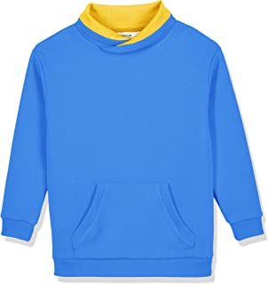 Kid Naton Kids Interlock Long Sleeve Drop Shoulder Pullover with Pockets for Boys or Girls,Age(4-12Years)