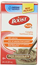 Boost Plus Drink, Rich Chocolate, 8 Ounce Brikpak, 4 Cases of 27 (108 Total Brikpaks)