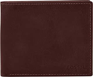 Fossil Men's Derrick Leather RFID Blocking Large Coin Pocket Bifold Wallet