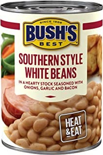 BUSH'S BEST Southern Style White Savory Beans, 15.3 Ounce Can (Pack of 12)