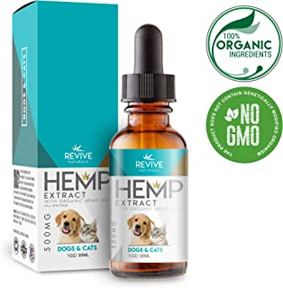 Revive Naturals Organic Hemp Oil Extract for Dogs & Cats