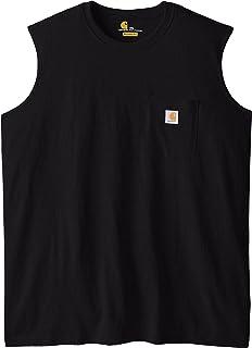 Carhartt Men`s Big & Tall Workwear Pocket Sleeveless Midweight T-Shirt Relaxed Fit