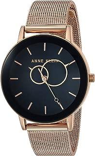 Anne Klein Women's Rose Gold-Tone Mesh Bracelet Watch, AK/3450