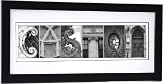 Creative Letter Art Personalized Wedding Name Sign created with Architectural Alphabet Photography includes 12 by 26 inch Frame with Mat - Best Wedding Gift