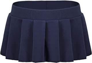 Women Sexy Role Play Pleated Mini Skirt Ruffle Lingerie for Schoolgirl