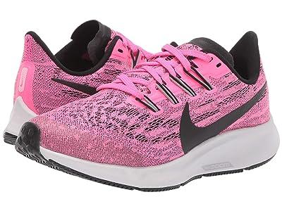 Nike Kids Air Zoom Pegasus 36 (Little Kid/Big Kid) (Pink Blast/Black/Vast Grey) Kids Shoes