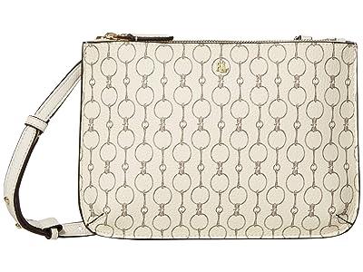 LAUREN Ralph Lauren Merrimack Faux Pebble Grain Carter 26 Medium Crossbody (Vanilla Mini Chain Link) Handbags