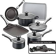 Farberware 21809 High Performance Nonstick Cookware Pots and Pans Set Dishwasher Safe, 17 Piece, Black