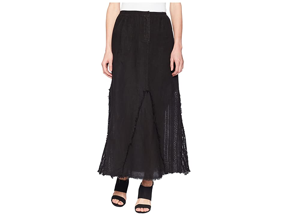 XCVI Kendall Linen Skirt (Black) Women