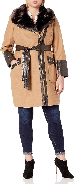 VIA SPIGA Women's Size Plus Kate Middelton Wool Coat