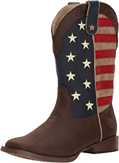 ROPER Boys' American Patriot, Brown, 11 M US Little Kid