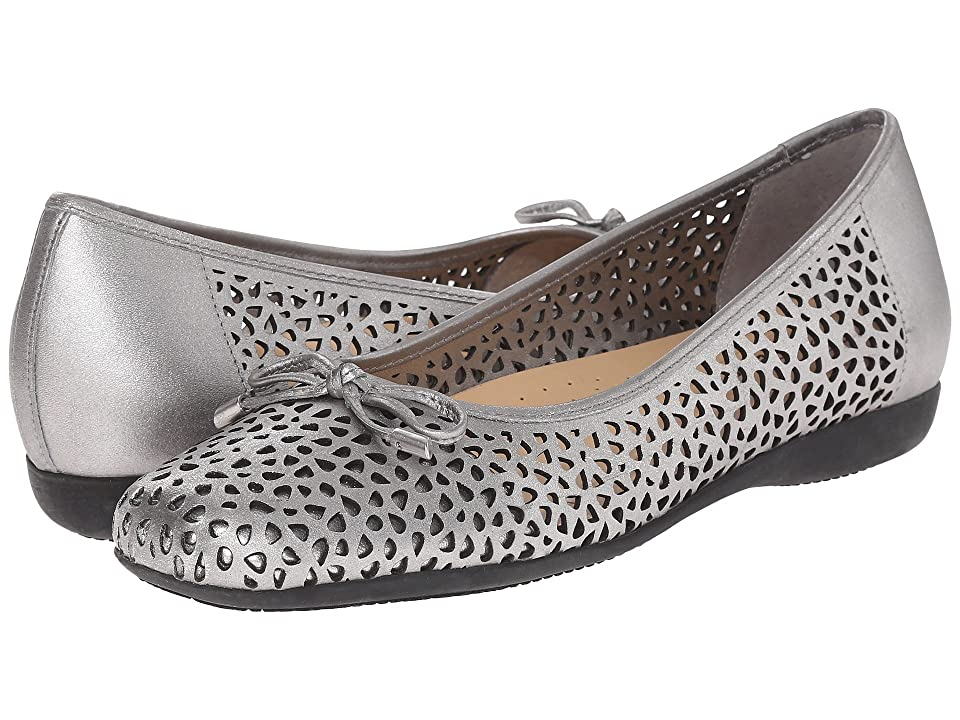 Trotters Sante Laser (Pewter Vegetable Calf Leather Laser Cut) Women