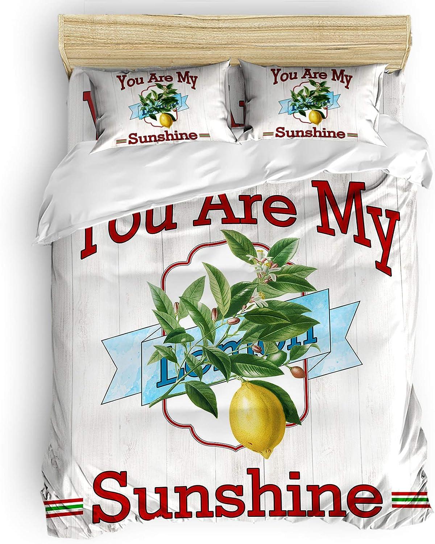 Lemon Oakland online shop Mall Duvet Cover 4 Pieces Microfibe Supplies Bedding Including