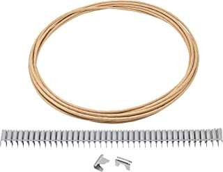 House2Home Upholstery Stay Wire for Sofa Furniture Springs, 20ft with 40 Clips, 16 Gauge, Includes Instructions