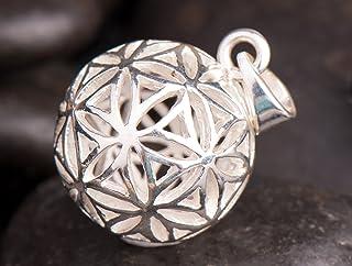 Berg Blume des Lebens Kugel-Anhänger 925 Sterling Silber, �