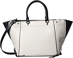 Susan Saffiano Leather Trapeze Satchel